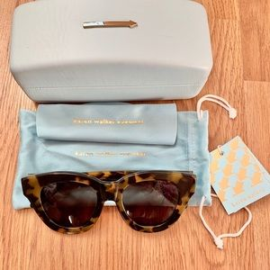 Karen Walker Anytime cat eye tortoise sunglasses